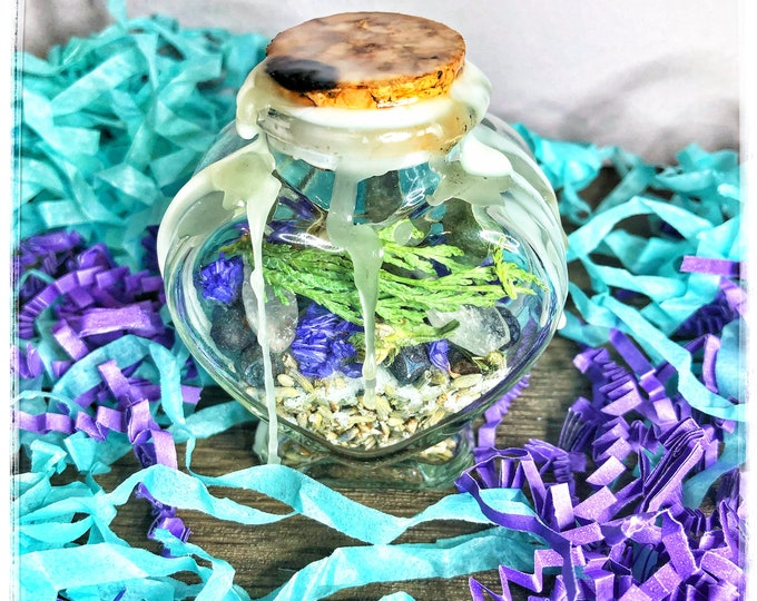Radiant Health Charm Bottle- Decorative Hoodoo Jar To Promote Healing & Recovery From Illness, Disease and Injury