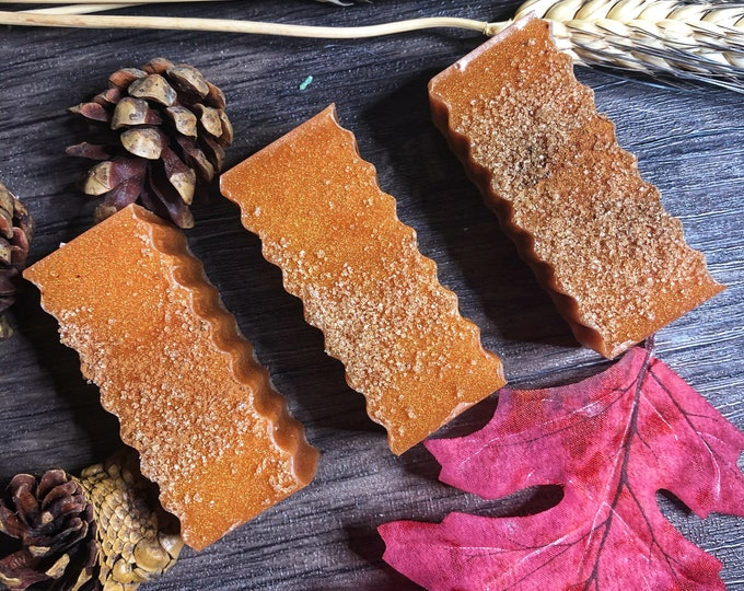 Autumn Blessings Bath Soap for Abundance- Honey Based, Caramel Corn and Fall Spice Scented