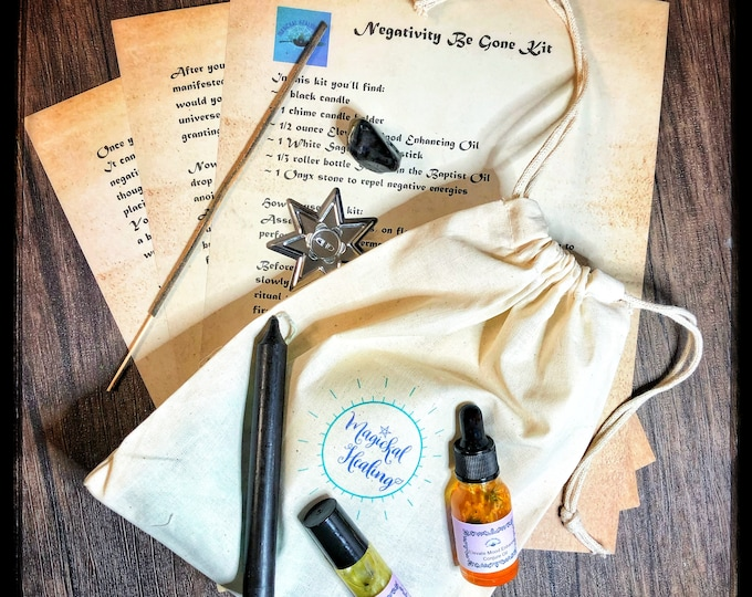 Negativity Be Gone  Empowerment  Kit- Rid Yourself of negative people, emotions and thoughts
