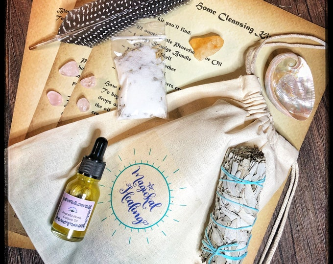 Home Cleansing Empowerment Kit-Cleanse Home of Negativity, Bad Spirits or Energies- Encourage Peaceful Home Vibes & Energy