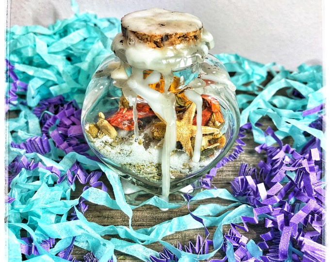 New Beginnings Charm Bottle- Decorative Hoodoo Jar for Transformation, Relieving Anxiety, Increasing Energy & Positivity