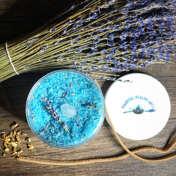 Archangel Gabriel Ritual Bath Salts with Bamboo Scoop- 8 Ounce- Now Available in a Scrub
