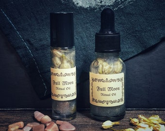 Full Moon Ritual Oil- Made with Essential Oils- For Use in Full Moon Spells & Ceremonial Magick Workings