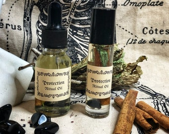 Protection Ritual Oil- Provides Protection From Hexes, Negative and Toxic Energies & Harmful Occurances