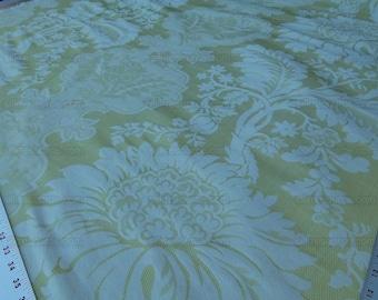 By Yd Scalamandre KILFANE Lemon Lg Acanthus Renaissance Silk Lampas MSRP 390USD/Y
