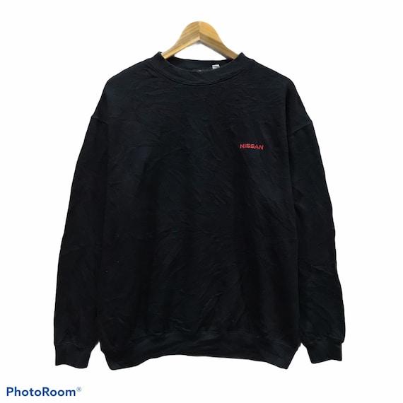Vintage Sweatshirt Nissan Work Wear Embroidery Bla