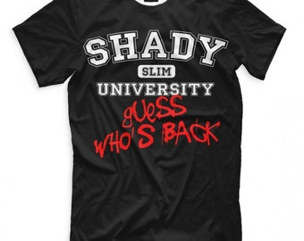 Officiel Eminem T Shirt Arrestation noire photo Homme Rap Unisexe T-shirt slim shady nouveau