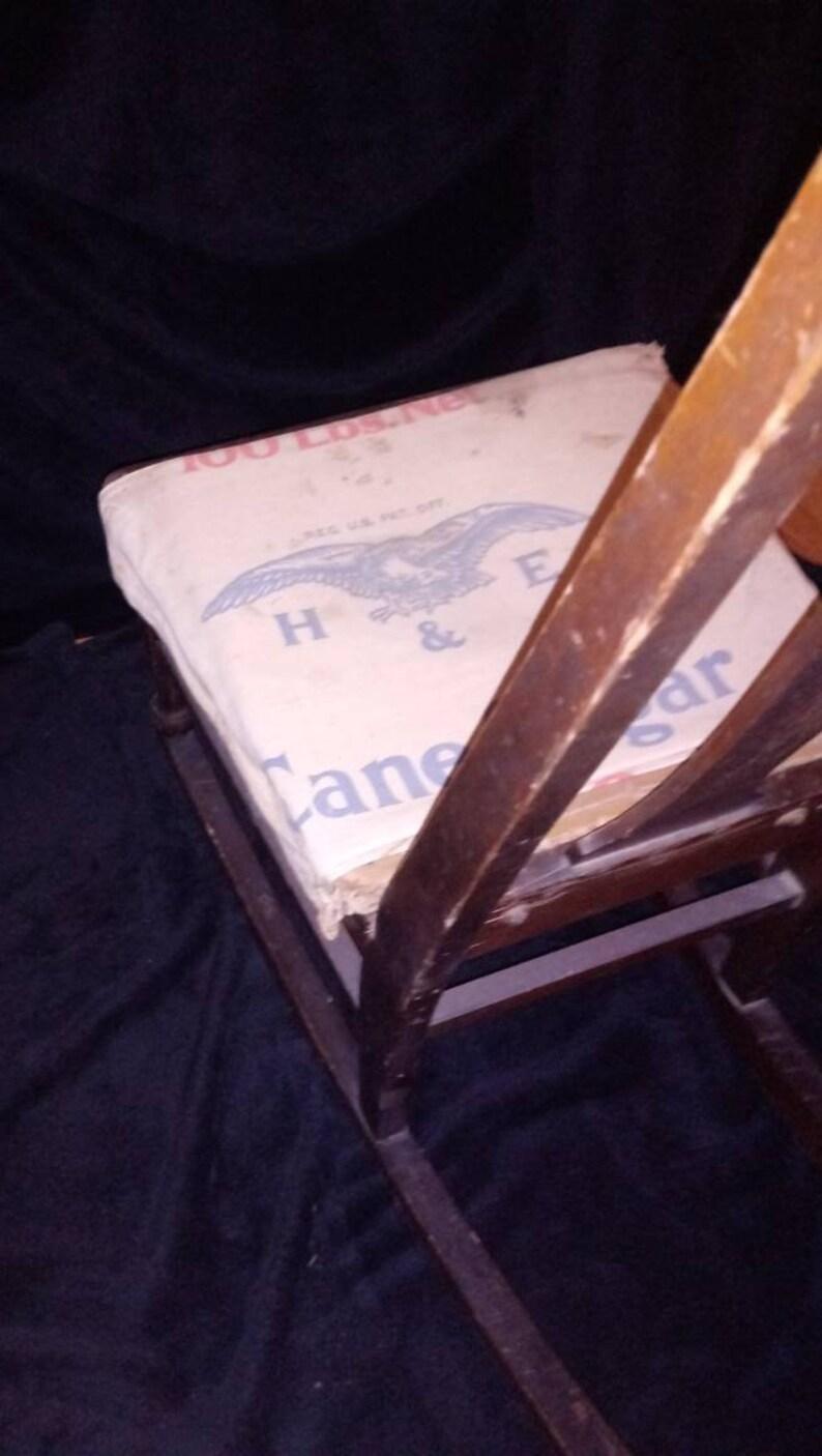 Antica sedia a dondolo in legno per bambini KYIpeUnH