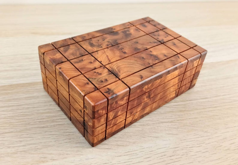 Puzzle box hidden compartment Wooden puzzle box Secret lock box Puzzle Box Money Box Secret Opening Box Secret lock box