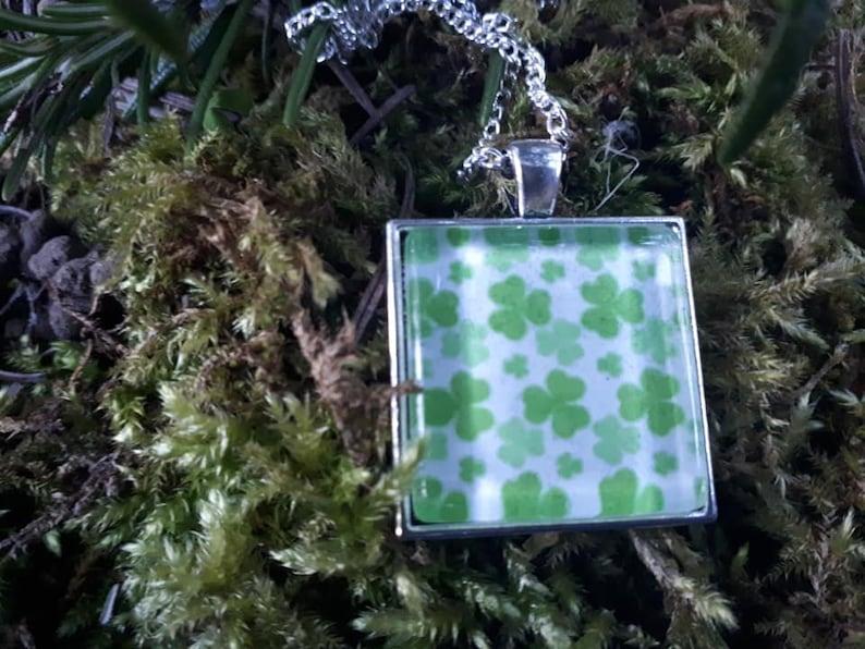 Green Ireland. Irish Shamrock Stylish Pendant