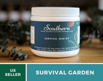 Survival Seed Garden - 40 Essential Crop Seeds - Non-GMO - Free Shipping & 20% Savings