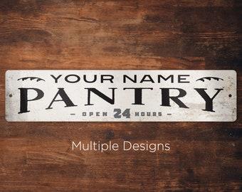 Custom Pantry Sign, Kitchen Pantry Sign, Modern Farmhouse Pantry Sign, Modern Farmhouse Decor, Vintage Pantry Sign, Kitchen Wall Decor