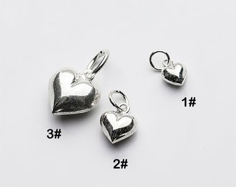 Bulk Charm 4pcs Sterling silver for fashion little feather charm metal charm small charm bracelet charm earring charm necklace charm