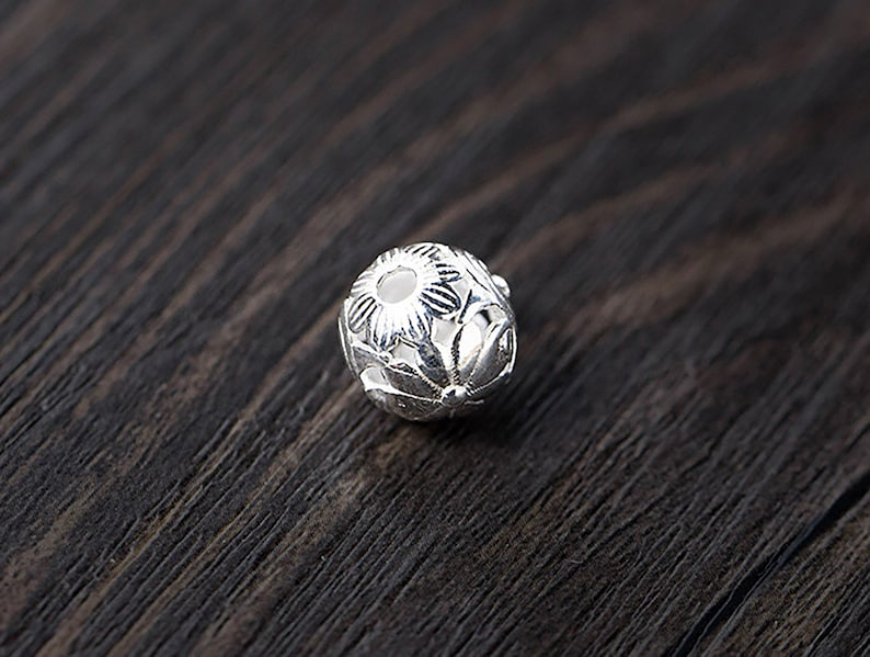 Sterling silver beads bead kit,trade beads,metal beads,bead charms,silver beads,flower beads,metal spacers,spacers jewelry,bulk beads,S0049