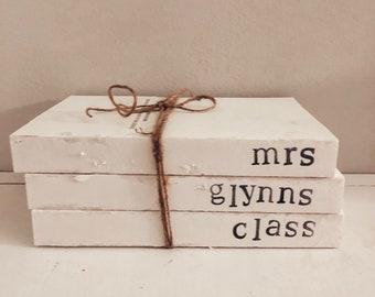 Teacher gift, teaching is a work of heart, teacher Christmas gift, teacher appreciation, personalized teacher gift, custom teacher books