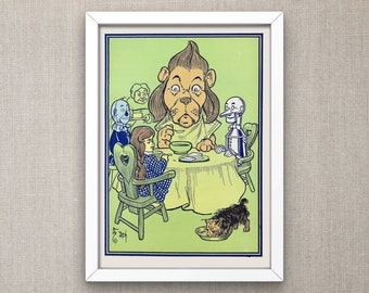 The Wonderful Wizard of Oz: The lion ate some of the porridge