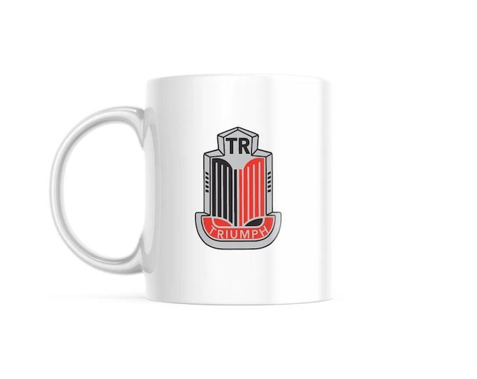 Customized Coffee Mug for Vintage Car Lovers, Triumph Edition