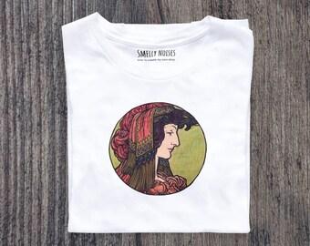 Alphonse Mucha's Fouquet No. 3, Short-Sleeve Woman T-Shirt