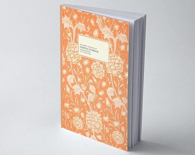 William Morris: Orange Wild Tulip, Everyday Dot Grid Notebook