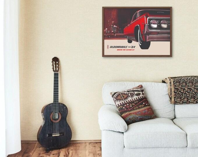 Vintage Car Poster: 1964 Oldsmobile