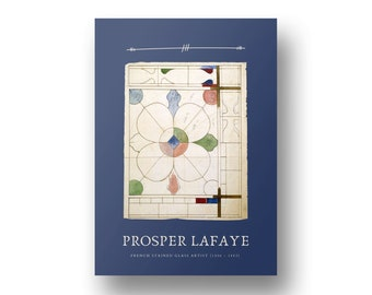 Prosper Lafaye, French Stained Glass Artist Edition 4, Printable Art