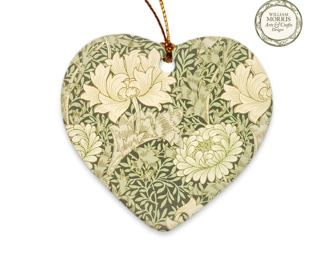 William Morris: Chrysanthemum, Christmas Porcelain Ornament