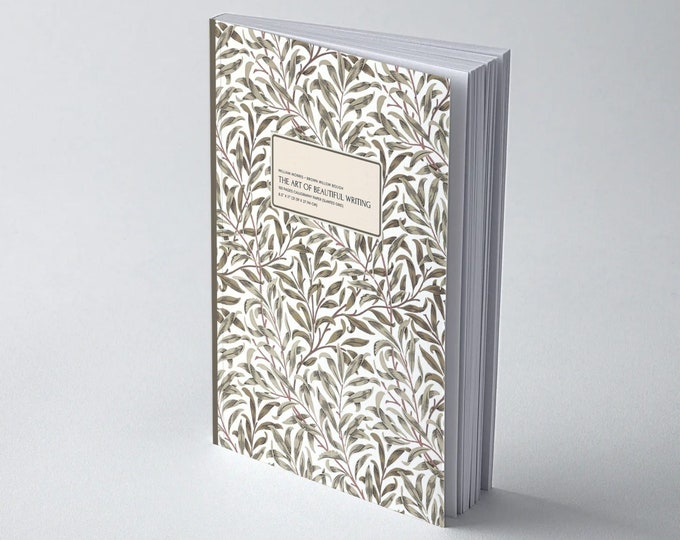 William Morris: Brown Willow Bough, The Art of Beautiful Writing, Calligraphy Paper (slanted grid)