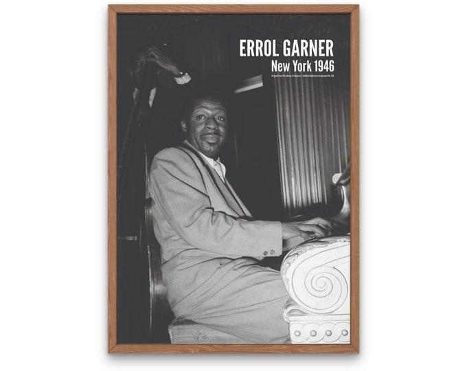 Erroll Garner: New York 1946 | Vertical Print | Wall Art | Office Décor | Art Print | Jazz Poster | The Golden Age of Jazz | Jazz Music