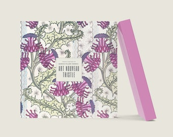 Art Nouveau Thistle: Visionary Maurice Pillard Verneuil Blank Notebook