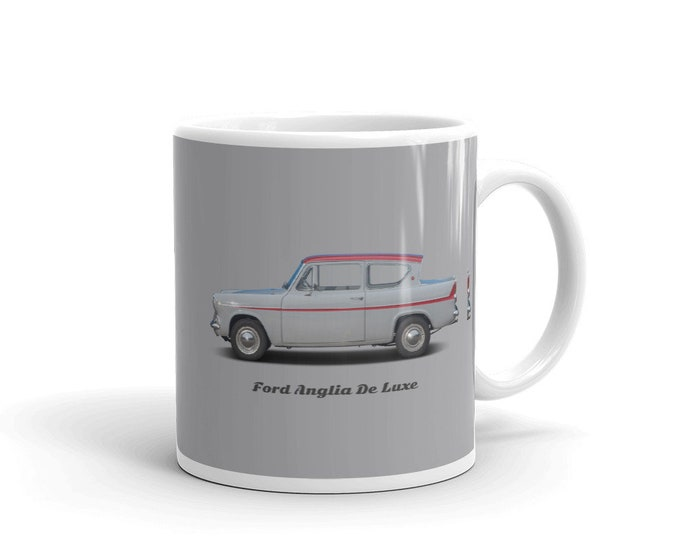 Ford Anglia Deluxe, the Harry Potter car, coffee mug