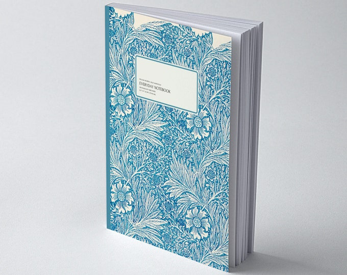 William Morris: Blue Marigold, Everyday Dot Grid Notebook