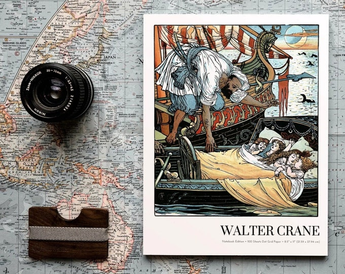 Princess Brunette, Walter Crane Notebook Edition, Dot Grid Notebook