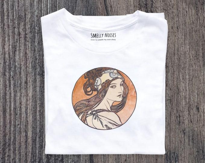 Alphonse Mucha's Fouquet No. 2, Short-Sleeve Women T-Shirt