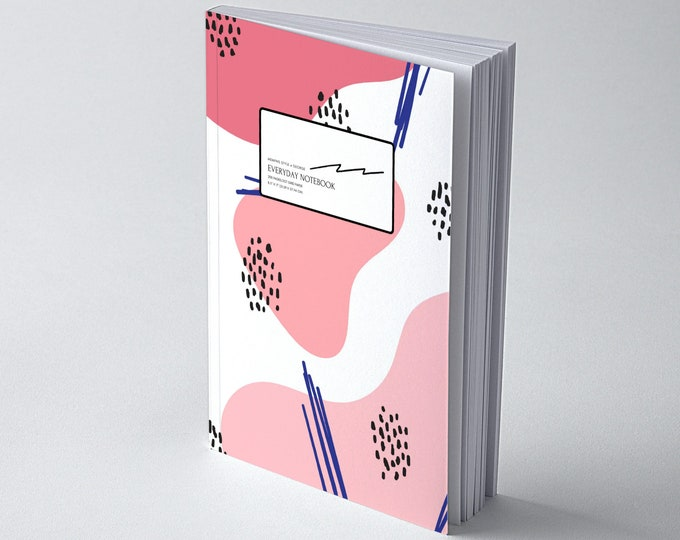 Memphis Style @ George, Dot Grid Notebook for Creatives