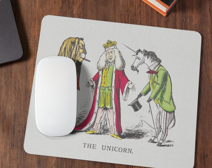 The unicorn, cute and funny Mousepad