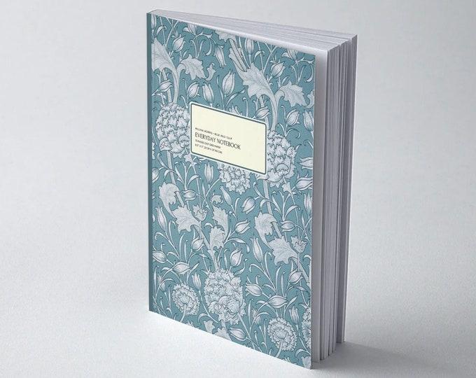 William Morris: Blue Wild Tulip, Everyday Dot Grid Notebook