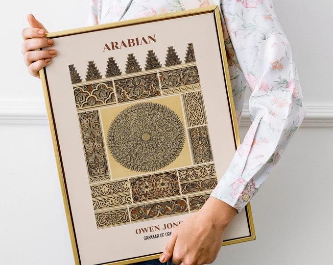 Owen Jones: Grammar of Ornament, Arabian   Vertical Print   Wall Art   Office Décor   Art Print   Design Sourcebook   Chromolithography