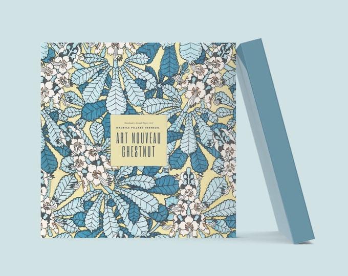 Art Nouveau Chestnut: Visionary Maurice Pillard Verneuil Blank Notebook