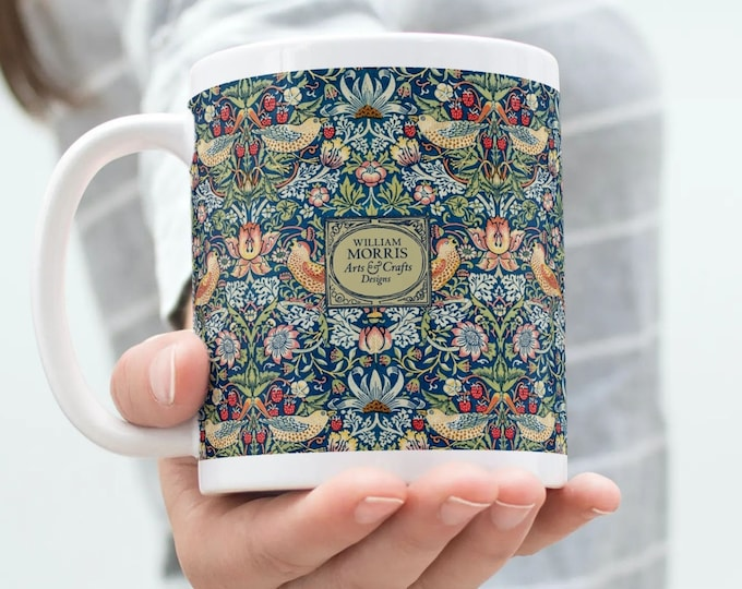 William Morris: Strawberry Thief, Coffee Mug