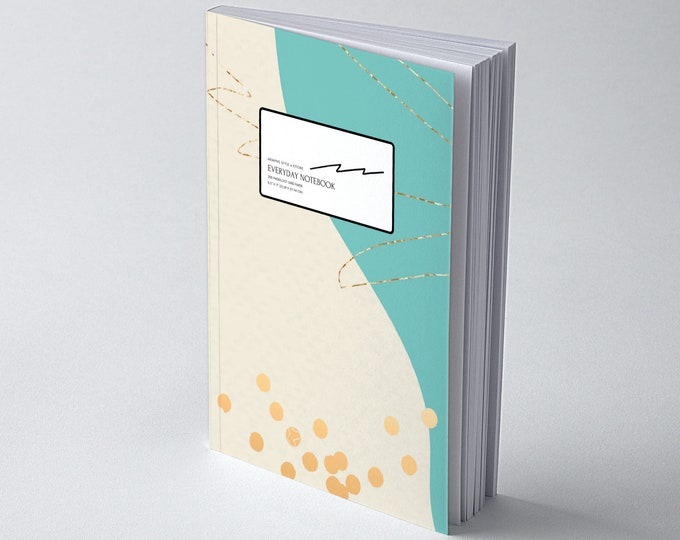 Memphis Style @ Ettore, Dot Grid Notebook for Creatives