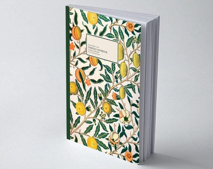 William Morris: Fruit | Everyday Dot Grid Notebook | Dot Journal | Bullet Journal | Floral Notebook | Travel Journal | Stationary