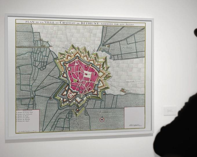 Map of the city of Béthune (Art Print)