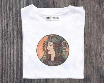 Alphonse Mucha's Fouquet No. 7, Short-Sleeve Woman T-Shirt