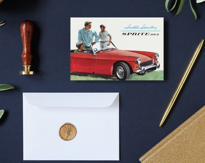 1962 Austin Healey Sprite MK II: Greeting Card Set