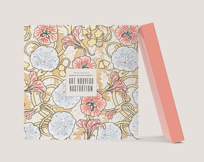 Art Nouveau Nasturtium: Visionary Maurice Pillard Verneuil Blank Notebook