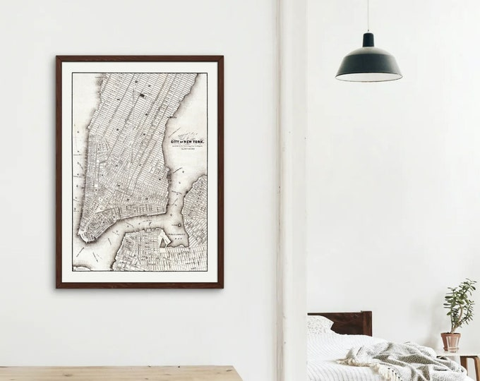 New York City Vintage Map (Art Print)