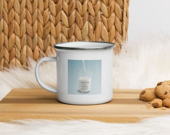 Calcium for strong Bones Enamel Mug