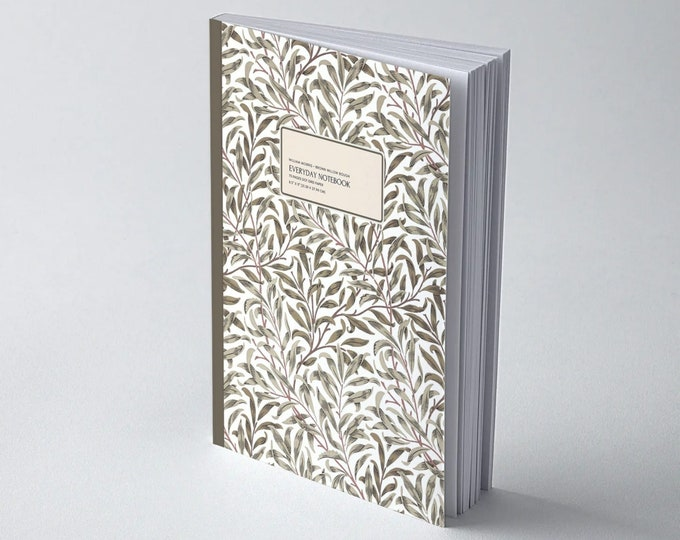William Morris: Brown Willow Bough, Everyday Dot Grid Notebook