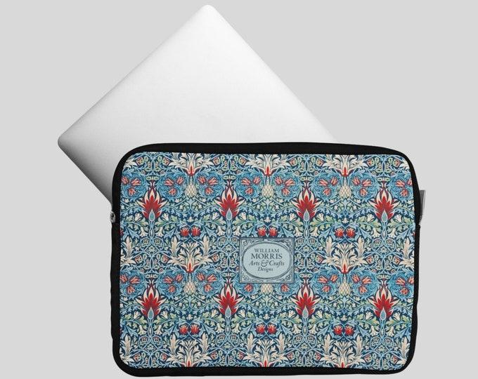 William Morris: Snakeshead | Floral Laptop Sleeve | Computer Case | Laptop Bag | Patterned Computer Sleeve | Laptop Folio
