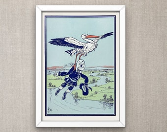The Wonderful Wizard of Oz: The Stork carried him up into the air